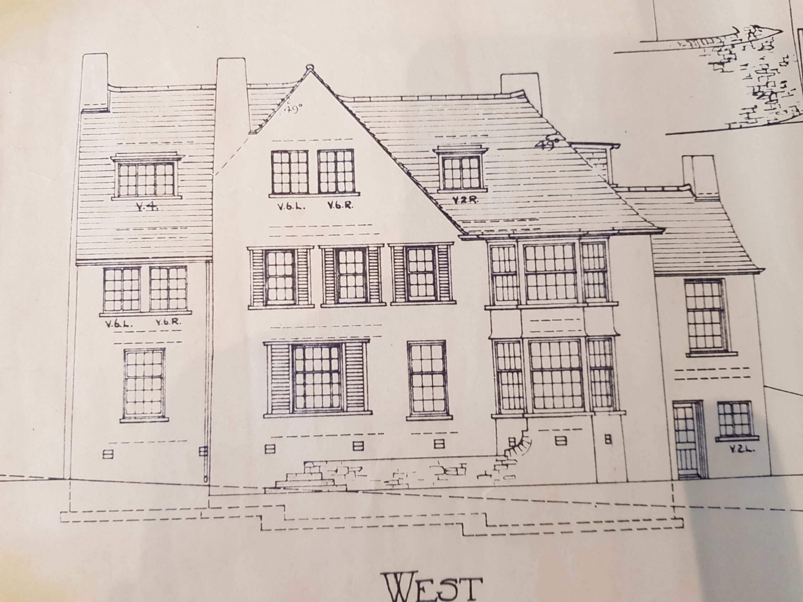 Kidsgrove Surveyors. Building Plan of an old traditional house